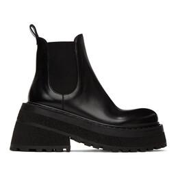 Marsell Black Carretta Beatles Chelsea Boots MW6022 172