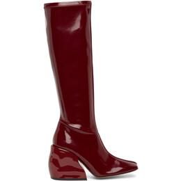 Tibi Burgundy Patent Lars Boots SP20LA3017