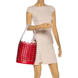 Kate Spade Red Leather Dorie Medium Bucket Bag 328542