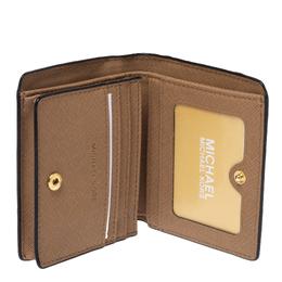 Michael Kors Black Leather Carryall Card Case Wallet 329734
