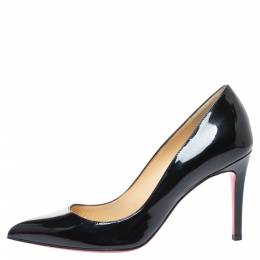Christian Louboutin Black Patent Leather Kate Pumps Size 36 329192