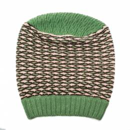 Missoni Green Patterned Wool Beanie 327556