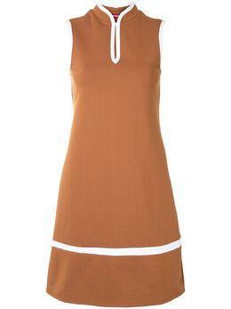 Staud платье с воротником-стойкой 467342TAN