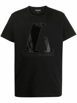 Emporio Armani футболка с декорированным логотипом 6H1T7S1JO4Z