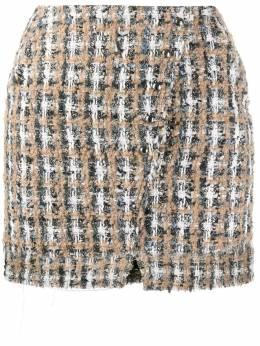 Iro твидовая юбка с запахом WM31HUNCH