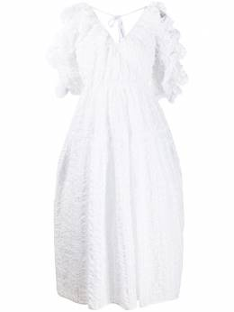 Cecilie Bahnsen платье миди с оборками PF200030