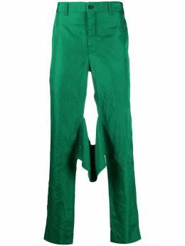 Comme Des Garcons Homme Plus брюки прямого кроя с жатым эффектом PFP047W20