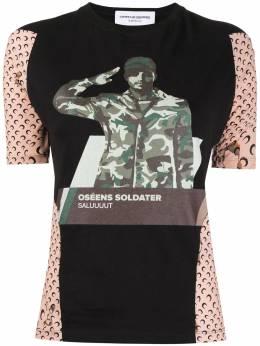 Marine Serre graphic-print panelled T-shirt T069FW20WUJERPA0001