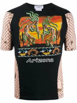 Marine Serre футболка с принтом Arizona T069FW20WU