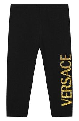 Хлопковые брюки Versace YA000169/A234592
