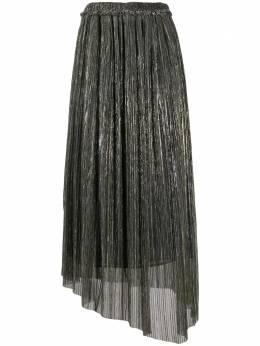 Isabel Marant Etoile плиссированная юбка Dolmenae с эффектом металлик JU117520A053E