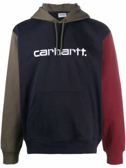 Carhartt Wip embroidered logo colour-block hoodie I02835303