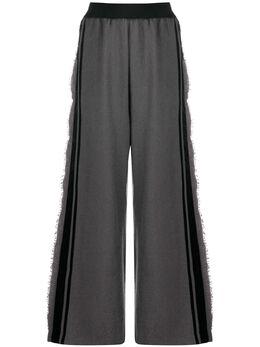 Uma Wang широкие брюки с бахромой UW3016