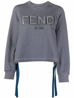Fendi sequin logo checked sweatshirt FS7102AD96