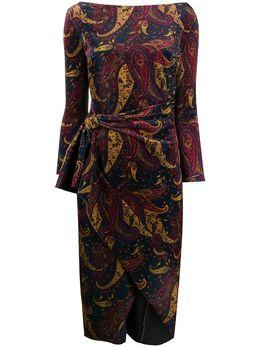 La Petite Robe Di Chiara Boni платье Winter Moss с принтом пейсли MIMMALYVELVETPRINT