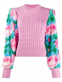 Giuseppe Di Morabito contrast-panel cable knit sweater PF20062KN103