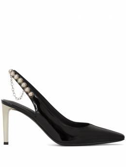 Giuseppe Zanotti Design туфли с заклепками и ремешком на пятке I050004003