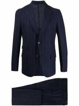 Eleventy woven pinstripe single-breasted suit B75ABUA03TES0B045
