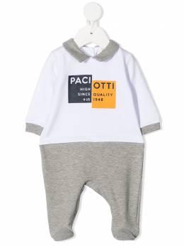 Cesare Paciotti 4Us Kids комбинезон для новорожденного с логотипом TCP0304N