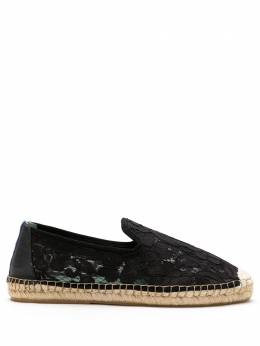 Blue Bird Shoes Espadrille garden renda preto S210428