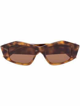 Balenciaga Eyewear Cut rectangular-frame sunglasses BB0106S