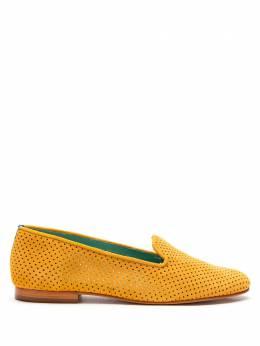 Blue Bird Shoes Loafer saudade camurça mostarda S2101110