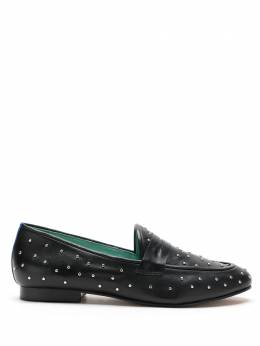 Blue Bird Shoes Loafer penny cravos couro preto S210103