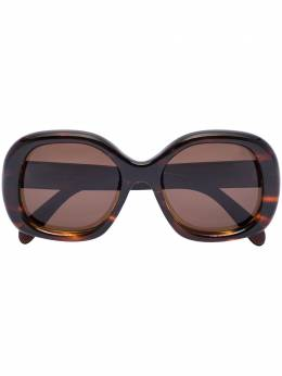 Celine Eyewear солнцезащитные очки Havana в круглой оправе 4S163CPLB19SH