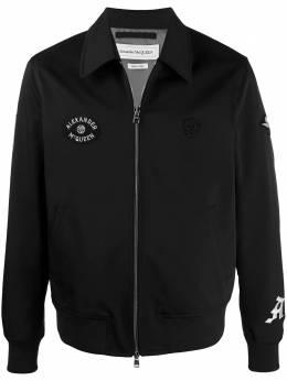 Alexander McQueen куртка на молнии с вышитым логотипом 615623QPR14