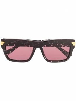 Bottega Veneta Eyewear солнцезащитные очки в квадратной оправе BV1058S