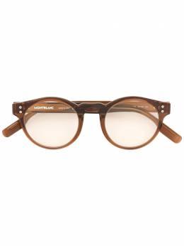 Montblanc солнцезащитные очки с накладными линзами MB0123S