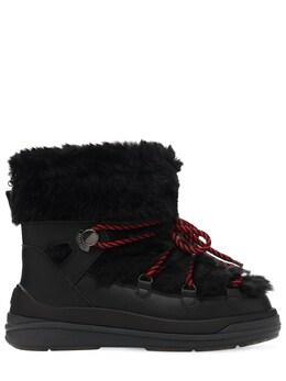 30mm Leather & Faux Fur Snow Boots Moncler 72IXDD005-OTk50