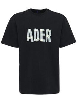 Футболка Из Хлопкового Джерси С Принтом Логотипа Ader Error 72IS3R022-QkxBQ0s1