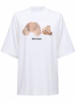 Bear Print Cotton Jersey T-shirt Palm Angels 72IRT9001-MDE2MA2