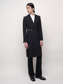 Двубортное Шерстяное Пальто Givenchy 72IABC001-MDAx0