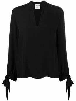 Semicouture блузка с V-образным вырезом и завязками на манжетах Y0WU02