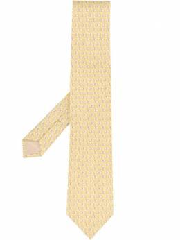 Salvatore Ferragamo галстук с принтом 737662