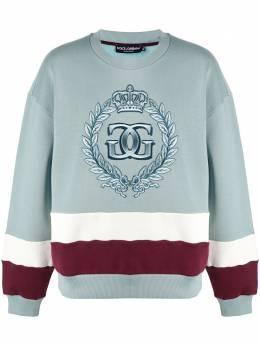 Dolce&Gabbana полосатая толстовка с вышитым логотипом G9TL9ZFU77G