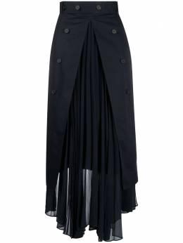 Rokh юбка макси с высоким разрезом и плиссировкой R2CA103VM
