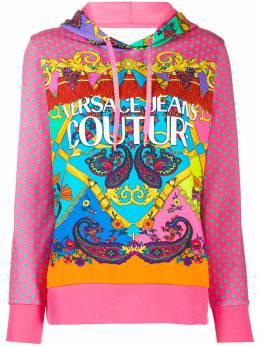 Versace Jeans Couture худи с длинными рукавами и принтом Baroque B6HZA7PM30394