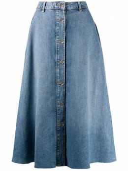 Liu Jo джинсовая юбка миди на пуговицах UF0055D4518