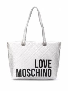 Love Moschino diamond-quilt logo tote bag JC4229PP0BKE0