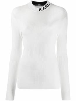 Karl Lagerfeld топ вязки интарсия с логотипом 206W2000110