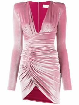 Alexandre Vauthier бархатное платье мини со сборками 204DR1109