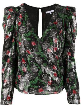 Patrizia Pepe блузка с цветочным принтом и V-образным вырезом 8C0406A7N7XU25