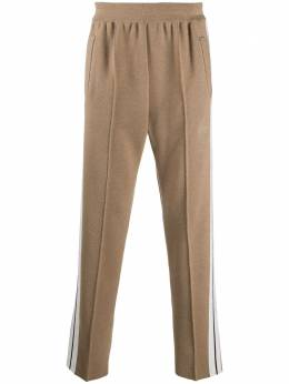 Palm Angels CASHMERE TRACK PANTS BROWN BLACK PMHG004E20KNI0016010
