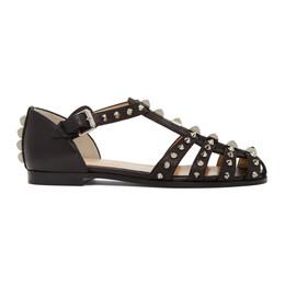 Christian Louboutin Black LoubiClou Flat Sandals 3200351