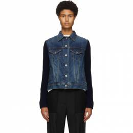 Sacai Blue Denim and Wool Jacket 20-05153