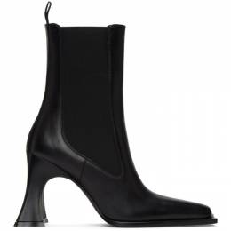 Acne Studios Black Leather Heeled Boots AD0317-