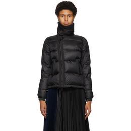 Sacai Black Down Nylon Jacket SCW-037